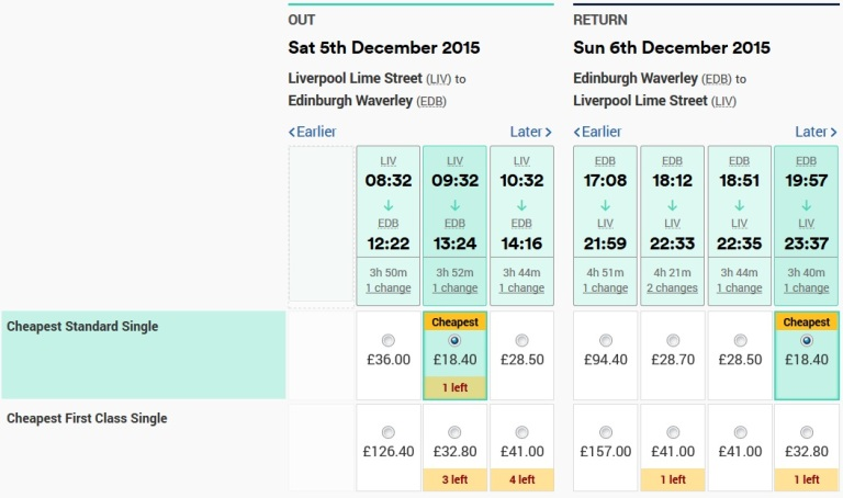 151205 Edinburgh Weekend Return