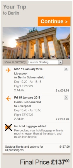 EasyJet - Berlin Flights