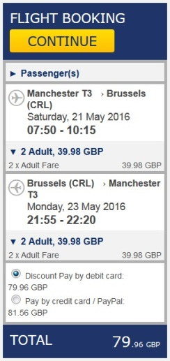 Flights - Man-Brussels